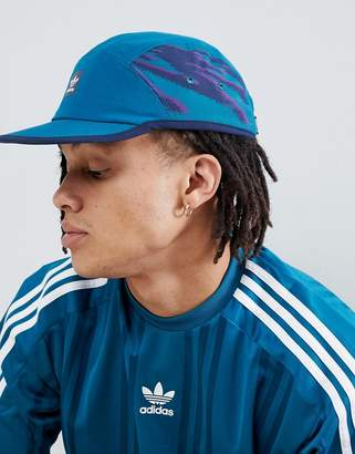 adidas Skateboarding Retro 5 Panel Cap in Blue DH2583