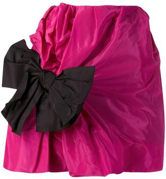 Carmen March bow detail mini skirt