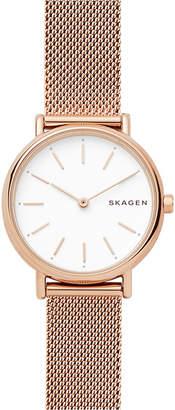 Skagen Women's Signatur Slim Rose Gold-Tone Stainless Steel Bracelet Watch 30mm