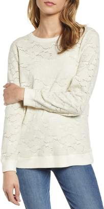 Lucky Brand Lace Knit Top