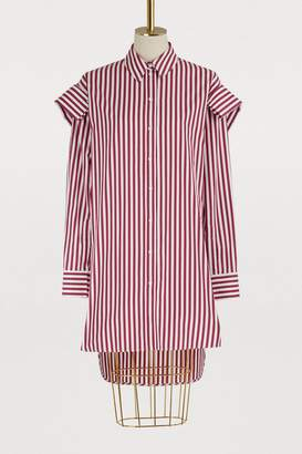 Alexander McQueen Oversized striped shirt