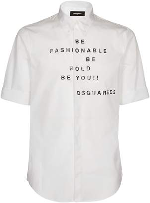 DSQUARED2 Be Fashionable Print Shirt