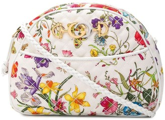 Gucci quilted floral crossbody bag