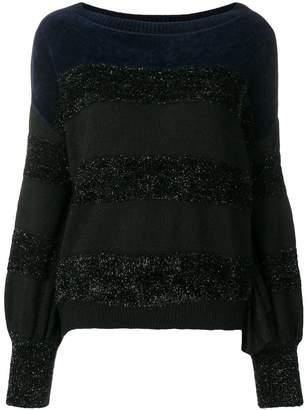 Liu Jo long-sleeve striped sweater
