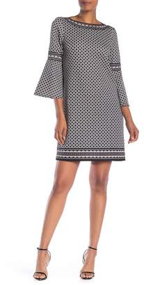 Max Studio Lantern Sleeve Printed Dress