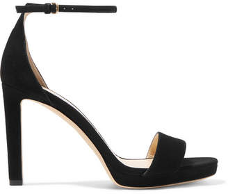 Jimmy Choo Misty 100 Suede Sandals - Black