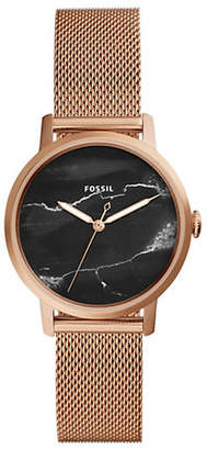 Fossil Neely Three-Hand Rose Goldtone Stainless Steel Watch