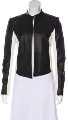 Alice + Olivia Long Sleeve Leather Jacket