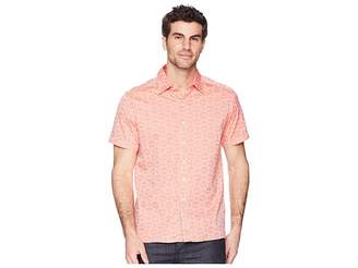 Robert Graham Cullen Squared Short Sleeve Woven Shirt Men's Clothing