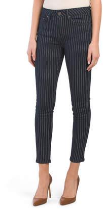 Juniors Pin Stripe Denim Pants