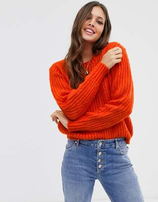 Pieces long sleeve knit jumper