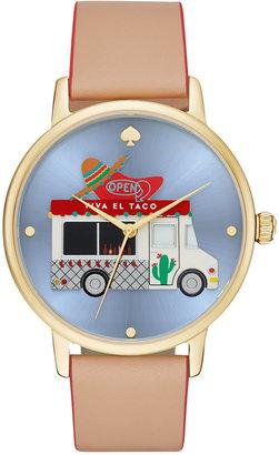 kate spade new york Women's Grand Metro Vachetta Leather Strap Watch 38mm $195 thestylecure.com