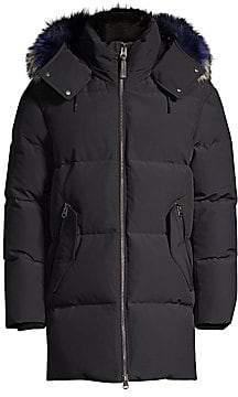 Mackage Men's Mitch Hooded Fox Fur-Trim Down Coat