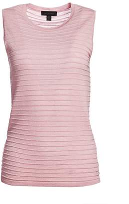 Saks Fifth Avenue Ribbed Sleeveless Merino Lurex Top
