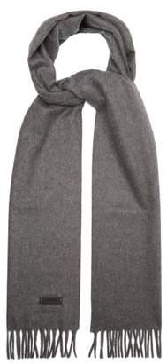Lanvin Fringed Cashmere Scarf - Mens - Grey