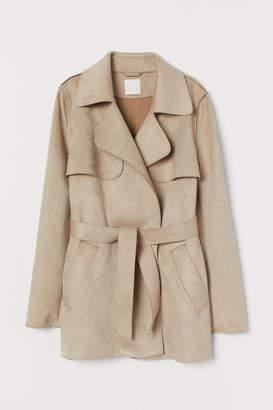 H&M Short Faux Suede Jacket