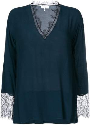 IRO lace trim blouse