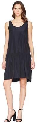 Jil Sander Navy Sleeveless Taffetas Dress Women's Dress