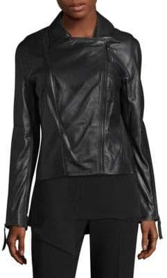 St. John Leather Moto Jacket