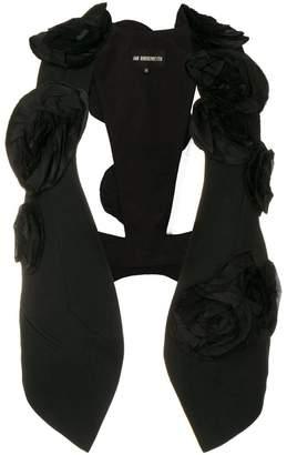 Ann Demeulemeester flower appliqué waistcoat
