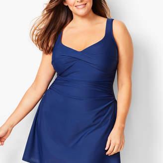Talbots Plus Size Miraclesuit(R) Marina Swim Dress