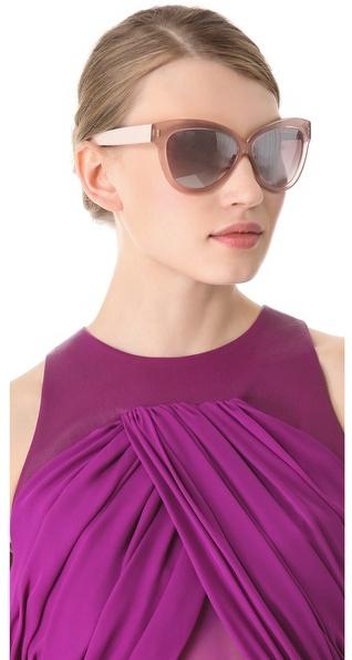 Linda Farrow luxe Python Curved Square Sunglasses