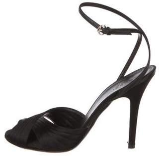 Gucci Satin Cutout Sandals