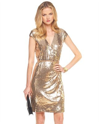 MICHAEL Michael Kors Sequined Wrap Dress