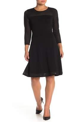 Modern American Designer New Illusion A-Line Dress