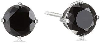 925 Sterling Silver 8mm AAA Cubic Zirconia Stud Earrings (4 cttw)