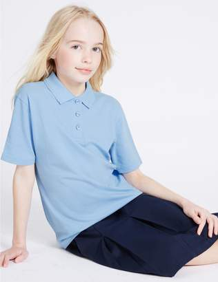 Marks and Spencer 2 Pack Girls' Stain Resist Polo Shirts