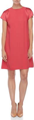 Jil Sander Navy Pink Satin Trim Shift Dress