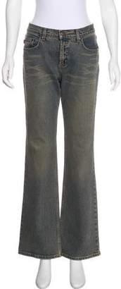 BCBGMAXAZRIA Mid-Rise Wide-Leg Jeans