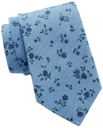 Tommy Hilfiger Tonal Bouquet Silk Tie $65 thestylecure.com