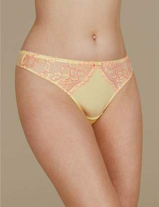 Marks and Spencer Floral Lace Thong