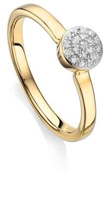 Monica Vinader Fiji Mini Diamond Button Stack Ring