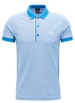 BOSS Hugo Slim-fit logo polo shirt in cotton pique XXXL Blue