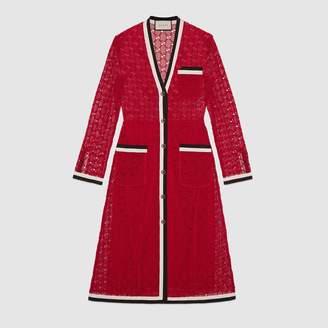 Gucci GG macrame long sleeve dress
