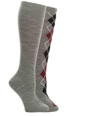 Aldo Argyle Knee Socks - 2 Pack - Women's