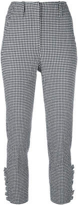 Incotex gingham cropped trousers