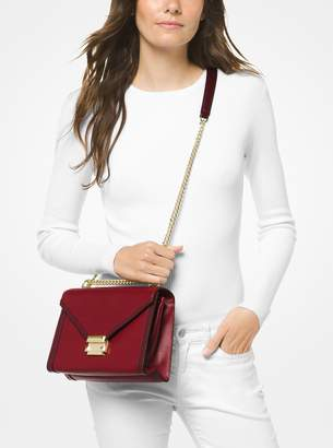 MICHAEL Michael Kors Whitney Large Two-Tone Leather Convertible Shoulder Bag