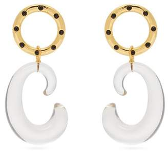 Lizzie Fortunato Matera Gold Plated Drop Earrings - Womens - Gold