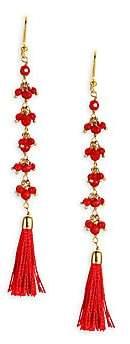 Rosantica Etna Quartz Tassel Drop Earrings