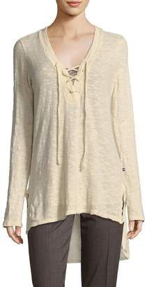 Sol Angeles Women's Deep V-Neck Cotton Tunic