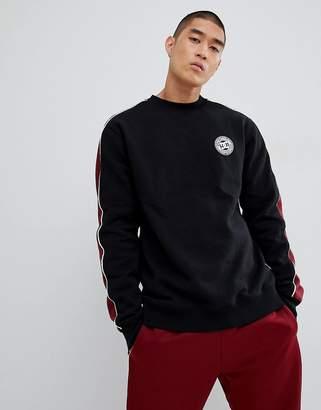DC Sweatshirt with Sleeve Stripe in Black
