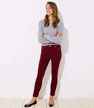 LOFT Modern Soft Skinny Jeans in French Burgundy