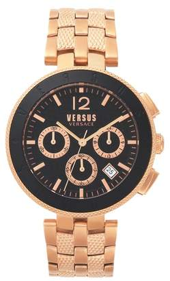Versace VERSUS  Logo Chronograph Bracelet Watch, 44mm