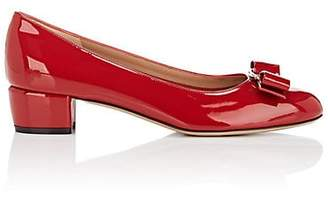 Salvatore Ferragamo Women's Vara Patent Leather Pumps - Red