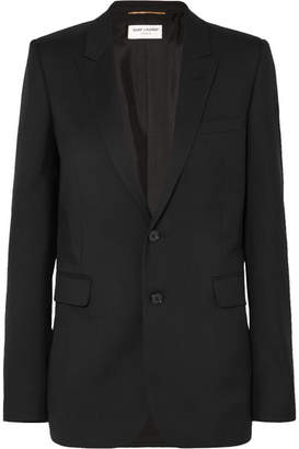 Saint Laurent Wool-gabardine Blazer - Black