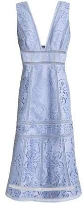 Rachel Gilbert Sylvi Flared Broderie Anglaise Midi Dress